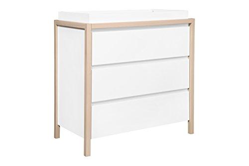 Babyletto Bingo 3-Drawer Changer Dresser, White/Washed Natural by babyletto