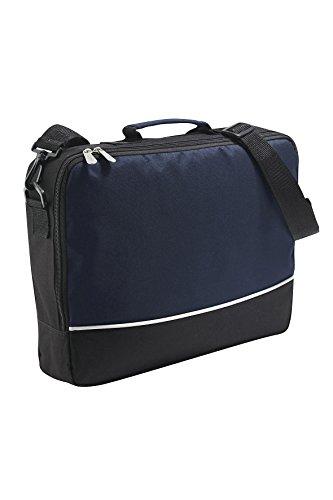Bolsa del negocio bolsa de hombro bolsa de ordenador portátil Messenger bag, hombro amovible en rojo/negro azul marino/negro