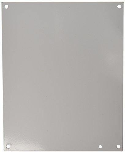 Hoffman A12N10P Panel, NEMA 1, Steel, 10.25'' x 8.25'', Fits 12'' x 10'', White by Hoffman (Image #1)