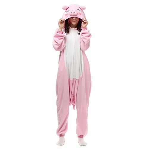 Jusebridal Unisex Sleepsuits Pajamas Cosplay Costumes Adult Sleepwear Carton Pig ()