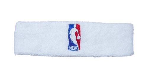 NBA Logoman Headband - White - White One Size