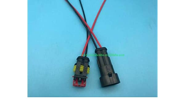 Davitu DJ7021-1.5-11/21 2 Pin Way Car Waterproof Electrical ... on