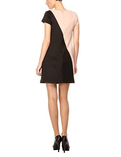 Les Damen Bicolore Asimmetrico Sophistiquees Rosa Abito Mehrfarbig Kleid nero Multicolore 5r51TqnOWc