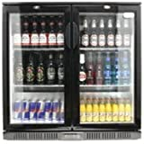 Double Door Bottle Cooler With LED Lighting HINGED