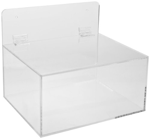 Brady MPPE Plastic Acrylic Miscellaneous Dispenser, Clear, 11-1/2'' W, 9-1/2'' D, 9-1/2'' H by Brady (Image #1)