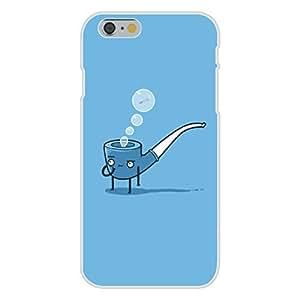 "Apple iphone 6 plusd 5.5 Custom Case White Plastic Snap On - ""Bubble Pipe"