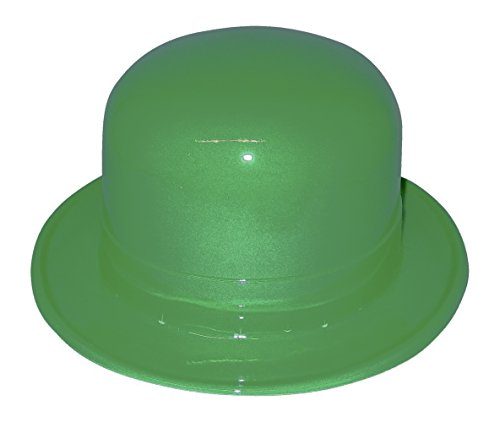 (12 Pack Plastic Green Derby Hat for St. Patrick's Day)