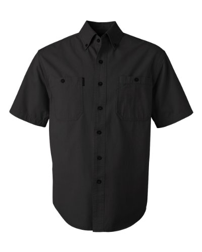 DRI DUCK 4286 Sawtooth Collection Brick Short Sleeve Shirt Black (Dri Duck Sawtooth Collection)