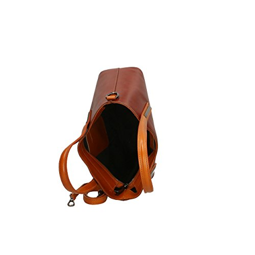 in main pour Marron Tan en cuir Femme Aren véritable Handbag à Marron Italy 31x21x11 Cm Made Sac qxnppvtR