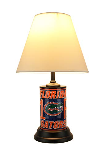 NCAA Florida Gators Number 1 Fan License Plate Lamp with Fabric Shade