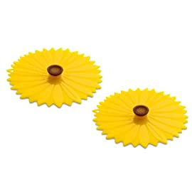 Charles Viancin CV103L/YS Sunflower Lid 78 Seals tight on all smooth rims Reusable, unlike plastic wrap Airtight seal prevents spills