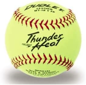 Dudley 4A-147Y Thunder Heat - Pelota de Softball (30,5 cm), Color ...