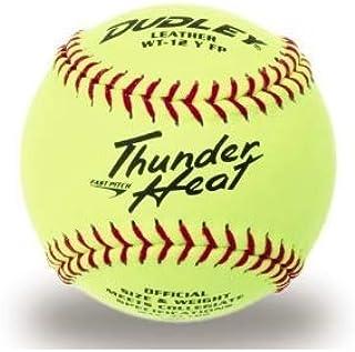 Dudley 4A-147Y Ballon de Football avec Inscription Game Ball Thunder Heat - Jaune - 12'
