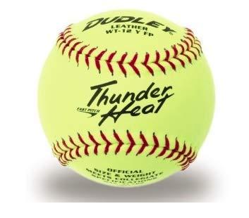 Dudley 4A-147Y Thunder Heat - Pelota de Softball (30,5 cm), Color ...