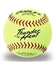 Dudley 4A-147Y Thunder Heat - Pelota de Softball (30,5 cm), Color Amarillo