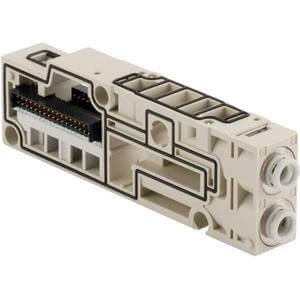 SMC SV1000-50-1A-N7 - SMC SV1000-50-1A-N7 Pneumatic Manifold Block Assembly, Maximum Operating Pressure:x2b;0.7MPa, Base Type: Stacking Tie-Rod