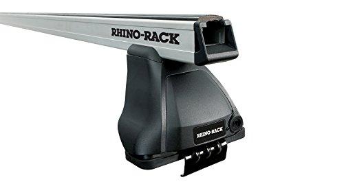 Rhino Rack JAGUAR XF 1st Gen 4dr Sedan 2009 to 2015 - Heavy Duty 2500 Silver 2 Bar Roof Rack by Modula Racks