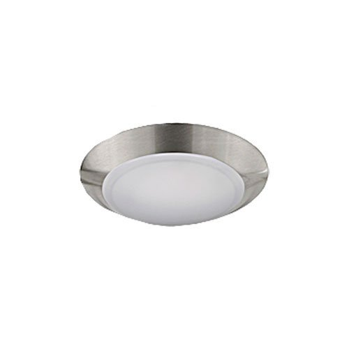 Jesco Lighting CM405S-30-BN 3000K LED Low Profile Ceiling Fixture ADA Sconce/Retrofit with Polycarbonate Shade, Nickel, 4'