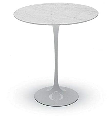 Saarinen 16 Inch Round Side Table.Amazon Com Tulip Table Round Side 16 Inch White Carrara
