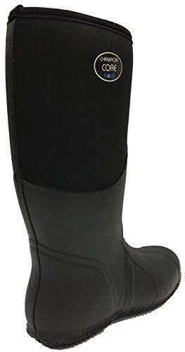 Nora 7962411 Champion Core Unisex-Erwachsene Gummistiefel, Regenstiefel, Boots mit Neopren Black
