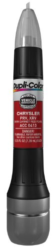 (Dupli-Color ACC0413 Dark Garnet Red Pearl Chrysler Exact-Match Scratch Fix All-in-1 Touch-Up Paint - 0.5 oz.)