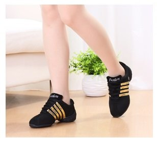 Jazz Dance Yao Gold Shoes Women for Shoes Lightweight Professional Dance Ballroom Shoes wpB7qF