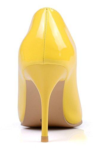 Yellow Pour 8cm Escarpins Femme KingRover xIq050