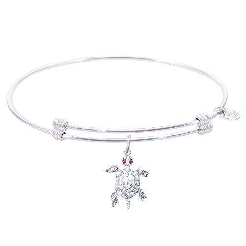 Rembrandt Turtle Charm Expandable Wire 'Alluring' Bangle, Sterling -