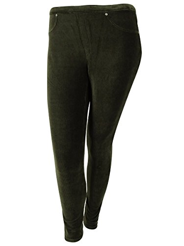 Style & Co. Plus Size Corduroy Stretch Leggings (0X, Espresso Bean)