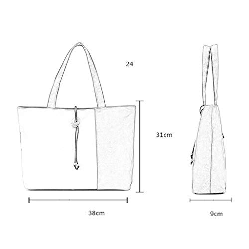 CHENGYI Borsa Travel a a Tracolla Messenger Casual Crossbody Mano Borse Fashion Ladies Satchel Canvas Blu Borsa qU1fqRr