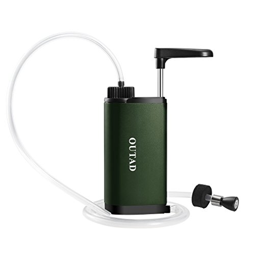 OUTAD Emergency Water Filter Portable Water Filter Water Purifier Pump Emergency and Camping Survival Gear by OUTAD