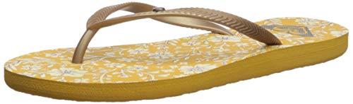 Roxy Women's Bermuda Sandal Flip Flop, Mustard, 9 ()
