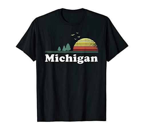 Retro Michigan Image Novelty Home MI State Souvenir T -