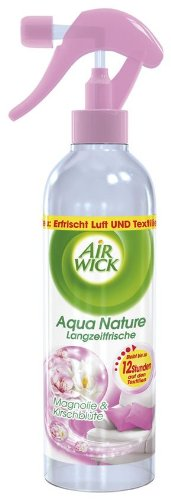 AirWick Aqua Nature Magnolie & Kirschblüte Spray 345 ml, 4er Pack (4 x 345 ml)