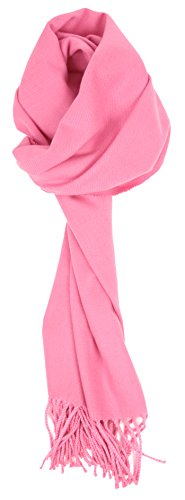Love Lakeside-Women's Cashmere Feel Winter Solid Color Scarf (One, Baby Pink)