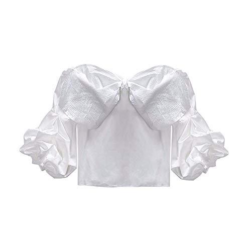 Camicette Felpa Mkhdd Camicia E Donna In White Maniche Da A Chiffon Con Lunghe zx1wqfxU