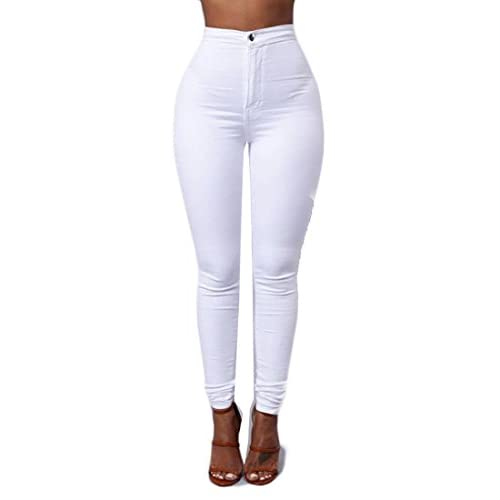 Nice Emastor Women Stretchy Solid Color High Waist Jeans Trousers free shipping