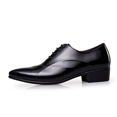 ZRO Men's Lace Up Formal Modern Oxford Dress Shoes Black US 9.5