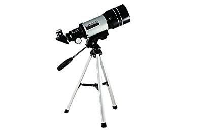 Moonee Portable Telescope for Kids Beginners Astronomical Telescope, 70mm Aperture, 300mm Focal Length, 150x Refractor Kids Telescope for Youth Astronomy Gifts Educational Toys