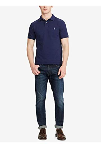 Polo Ralph Lauren Men Medium Fit Interlock Polo Shirt, French Navy, Medium