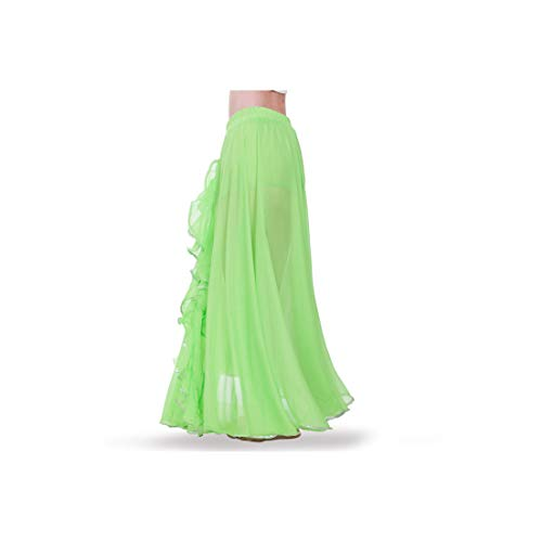 Bellydancing Skirt Belly Dance Skirts Wrap Skirt for Belly Ance Or Performance,Green,One Size -