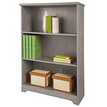 Realspace R Magellan Collection 3-Shelf Bookcase, Gray
