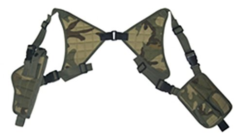 Ultimate Arms Gear Woodland Camo Camouflage Universal Vertical Ambidextrous High Quality Shoulder Holster, Fits Browning Hi-Power - Hi Woodland