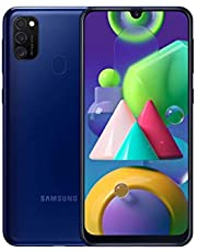 Samsung SM-M215FZBUDBT Galaxy M21 Smartphone, Tysk Version, 64 GB, Blå