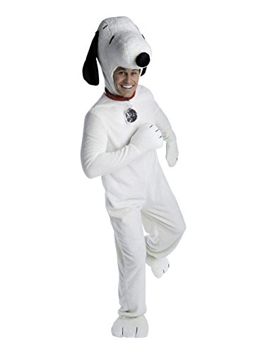 Deluxe Adult Charlie Brown Snoopy Costume White -