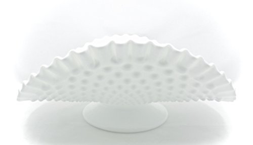 Hobnail Milkglass Serving Bowl,oval,white,12.5