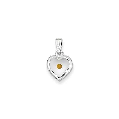 - Sterling Silver Small Heart with Mustard Seed Pendant