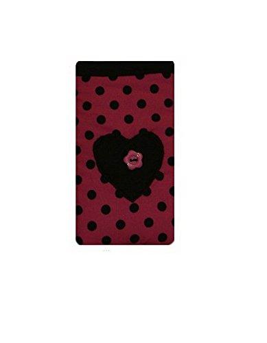 LŽger coeur Dotty rose iPhone 5 / 5C / 5 s Sock / pochette / Case