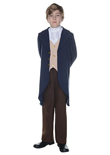 Under Wrap Big Boys' Thomas Jefferson Costume - Medium - Kid Thomas