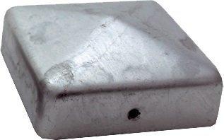 haebelholz 10 St/ück Pfostenkappe Verzinkt 121x121 mm Pyramide